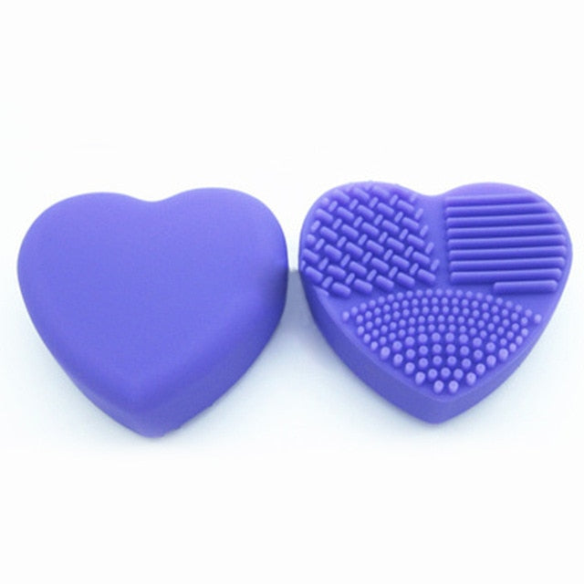 BBL 1 Piece Silicone Makeup Brush Cleaning Makeup Brushes Cleaner Heart Glove Cosmetic Brush Cleaning Mat Portable Washing Tools