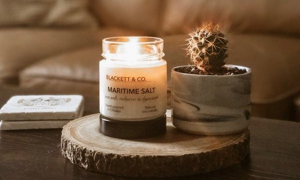 Maritime Salt natural soy candle Blackett & Co.