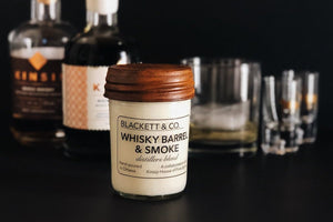 BLACKETT & CO. WHISKY BARREL AND SMOKE SOY CANDLE