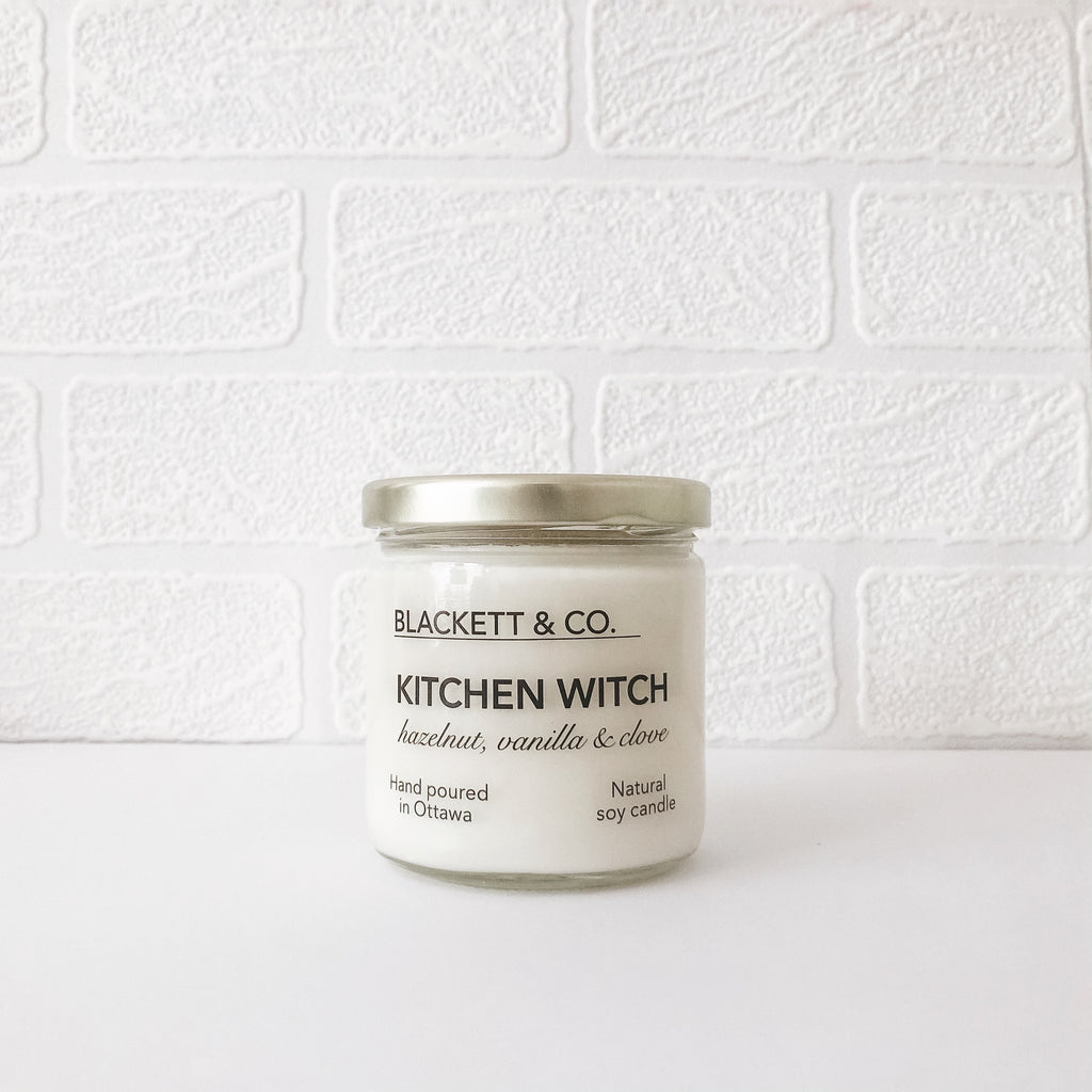 Kitchen Witch, scented natural soy wax candle handmade in Ottawa, Ontario, Canada