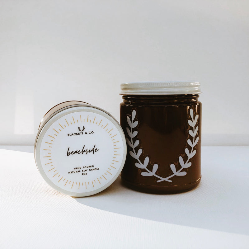 Beachside natural soy candle