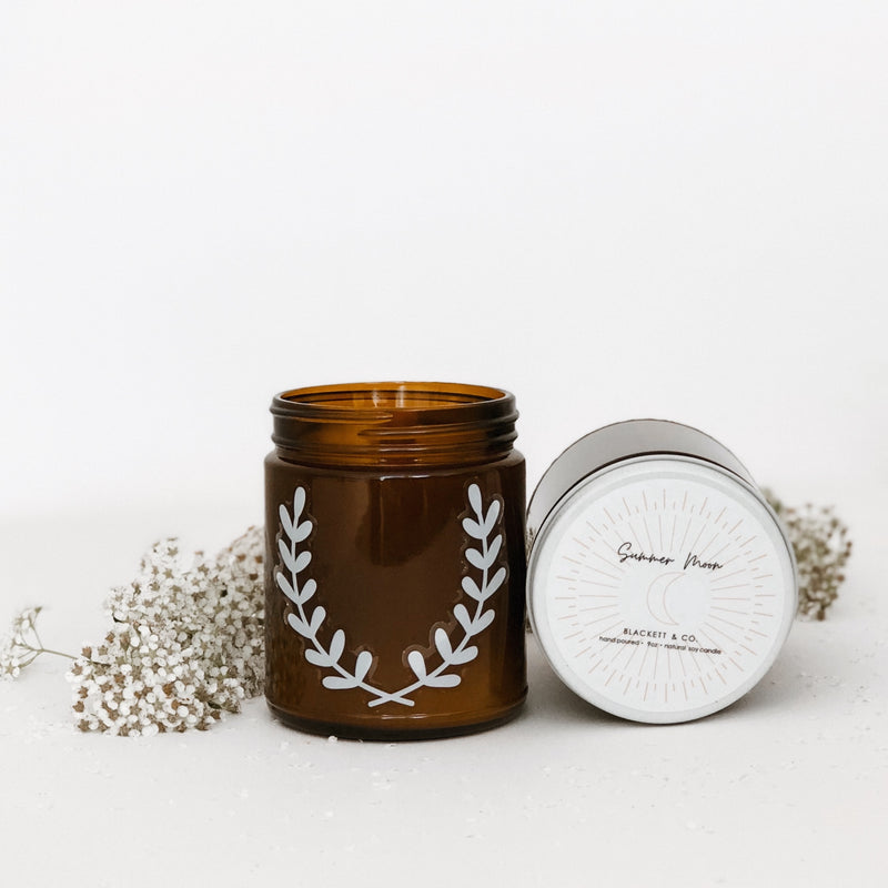 Summer Moon, scented natural soy wax candle handmade in Ottawa, Ontario, Canada