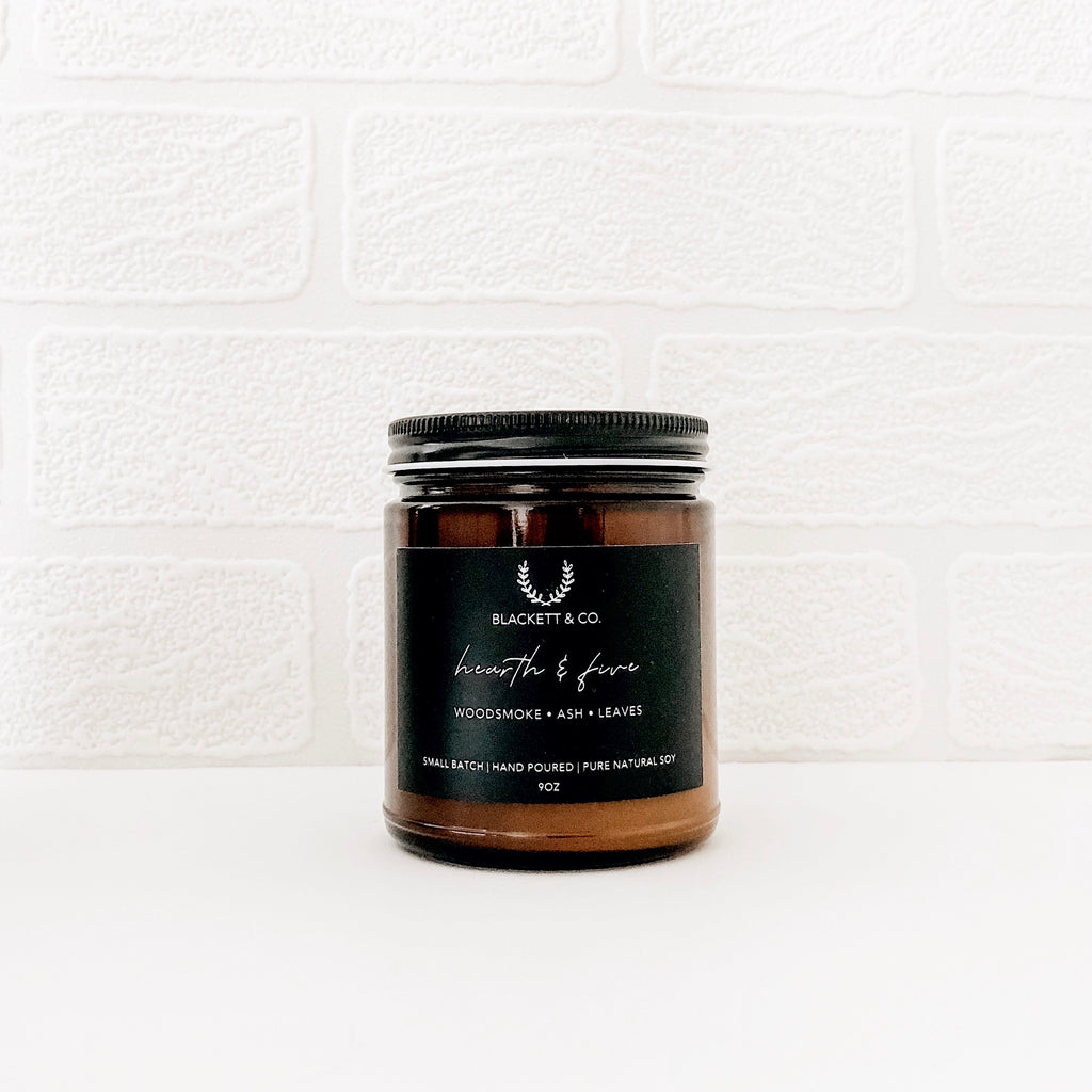 Hearth & Fire natural soy candle