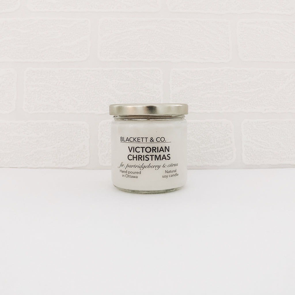 Victorian Christmas natural soy candle Ottawa Ontario Canada
