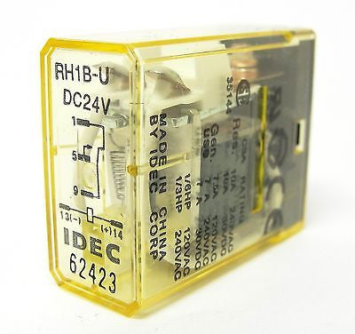 IDEC RH1B-UDC24V, 50/60Hz Compact Power Relay (LOT OF 10) - Industrial Sensors & Controls
