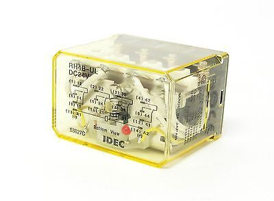 IDEC RH4B-ULDC24V, 50/60Hz Compact Power Relays (LOT OF 10) - Industrial Sensors & Controls