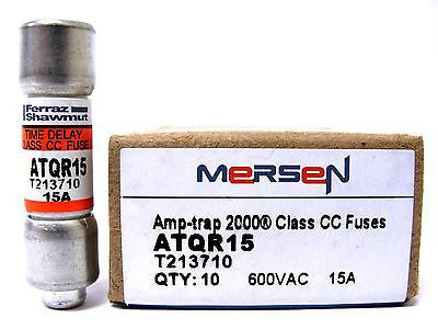 Mersen ATQR15, 600 VAC, 15 Amp, Amp-Trap Time Delay Fuses (LOT of 10) - Industrial Sensors & Controls
