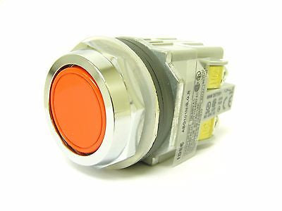 IDEC ABD110N-BGR Momentary 30mm Flush Pushbutton 1 NO Contact, 1 Dummy Block - Industrial Sensors & Controls