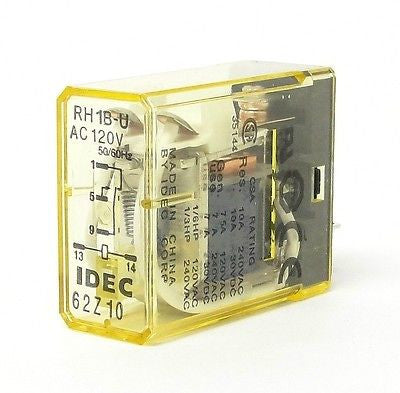 IDEC RH1B-UAC120V, 50/60Hz Compact Power Relays (LOT OF 10) - Industrial Sensors & Controls