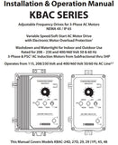 KB Electronics KBAC-29 (10001) AC Motor Control 230V 1PH In 3HP, 9A, 230V 3PH Out - Industrial Sensors & Controls
