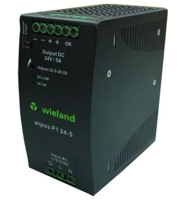 Wieland 81.000.6130.0 Switching Power Supply, 24 VDC, 5A