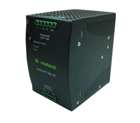 Wieland 81.000.6140.0 Switching Power Supply, 24 VDC, 10A