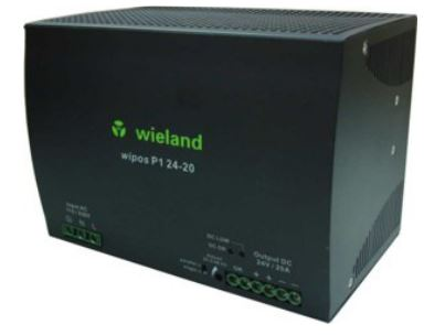 Wieland 81.000.6150.0 Switching Power Supply, 24 VDC, 20A