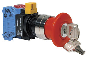 Idec HW4B-X4F11-R 22mm Emergency-Stop Switch