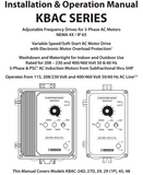 KB Electronics KBAC-27D AC drive 9520 w/ Leeson 2hp 3600rpm ac motor MADE IN USA - Industrial Sensors & Controls