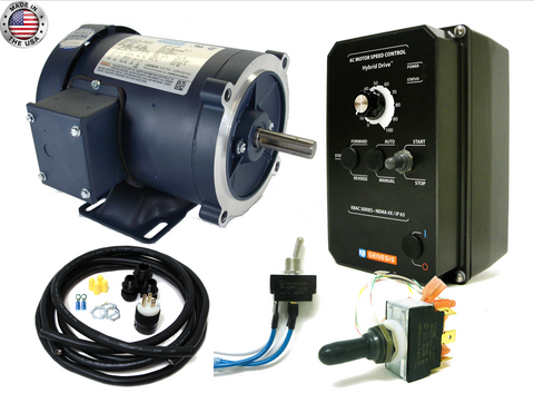 KB Electronics KBAC-24D AC drive 9987 w/ Leeson 1hp 3600rpm ac motor MADE IN USA - Industrial Sensors & Controls