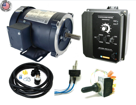 KB Electronics KBAC-27D AC drive 9520 w/ Leeson 2hp 1800rpm ac motor MADE IN USA - Industrial Sensors & Controls
