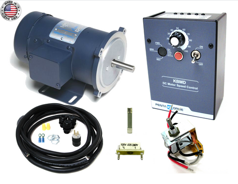 KB Electronics KBMD-240D DC drive 9370 w/ Leeson 1/2hp 1800rpm dc motor MADE IN USA - Industrial Sensors & Controls