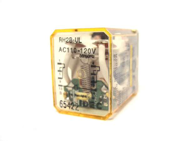IDEC RH2B-ULAC110-120V, 50/60Hz Compact Power Relay (LOT OF 10)