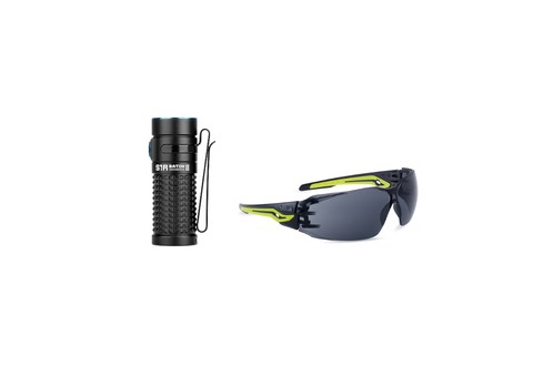 Safety Glasses and Flashlight 2-Combo