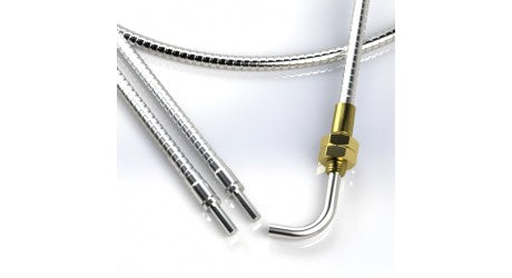 "Tri-Tronics BF-A-12RTL Fiber Optic, Bifurcated, 12"" long, Right Angle Threaded, 0.625"" - Industrial Sensors & Controls"