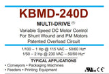 KB Electronics KBMD-240D DC drive 9370 w/ Leeson 3/4hp 1800rpm dc motor MADE IN USA - Industrial Sensors & Controls