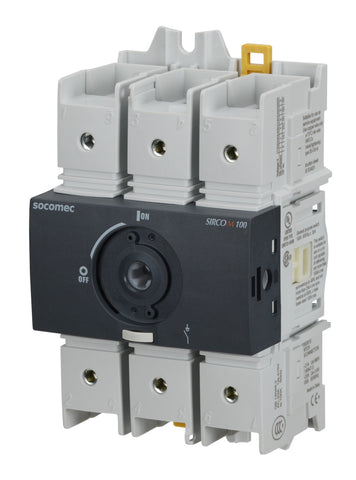Socomec AC Disconnect Switch, 22003010, FUSERBLOC, 100A, 3P - Industrial Sensors & Controls