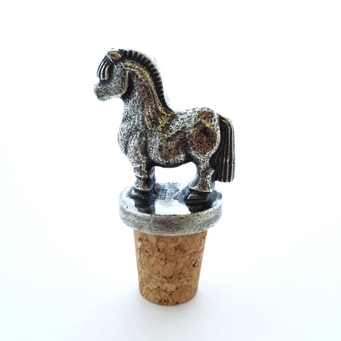 Wine Bottle Stopper: Fjord Horse