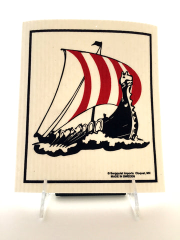 Dishcloth: Viking Ship