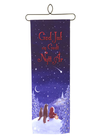 God Jul Fabric Hanging
