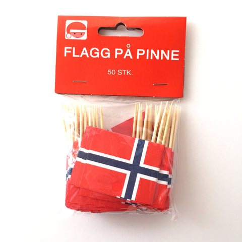 Norway Flag Toothpicks