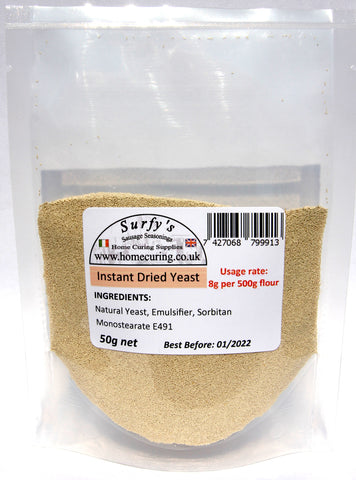 Instant Dried Bakers Yeast - Surfy's Home Curing Supplies