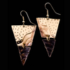 Brass and Copper Triangle Earring - Issara Fairtrade
