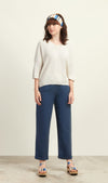 Juna Tencel Trousers Blue Grey - Issara Fairtrade