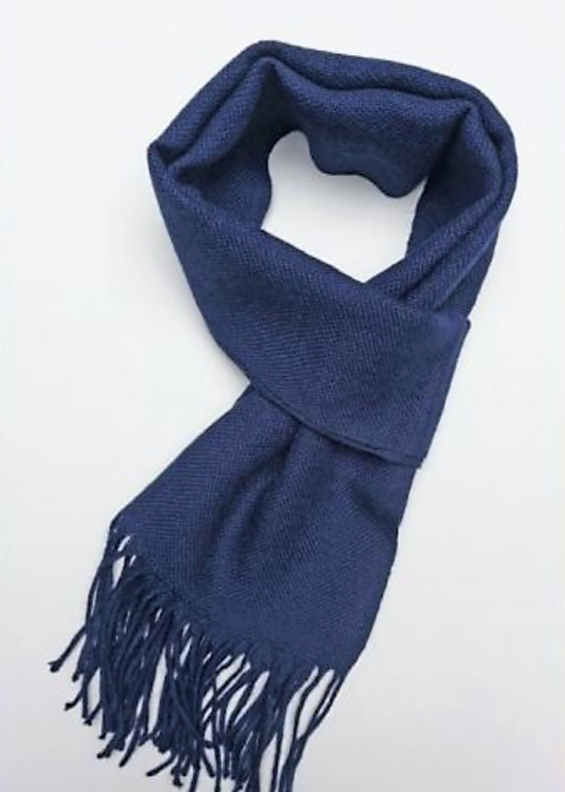 Baby Alpaca Scarf - Royal Blue - Issara Fairtrade