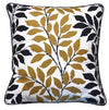 Black & Gold Leaf Eco Cushion - Issara Fairtrade