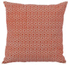 Terracotta Geometric Eco Cushion - Issara Fairtrade