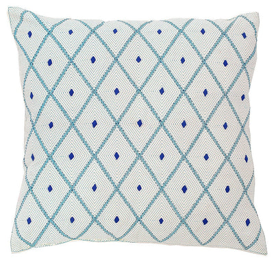 Blue Diamond Eco Cushion - Issara Fairtrade