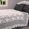 Hand Crocheted Bed Throw White - Issara Fairtrade