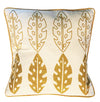 Leaf Eco Cushion Gold - Issara Fairtrade