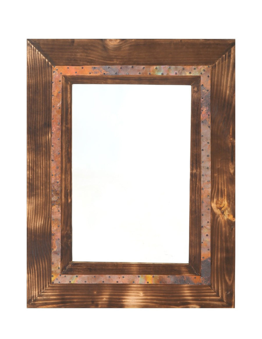 Beech and Copper Mirror - Issara Fairtrade