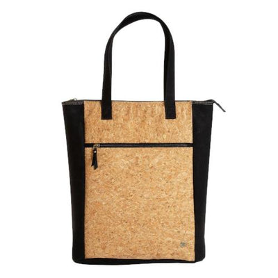 Vegan Faux Leather and Natural Cork Ethical Fashion Tote. - Issara Fairtrade