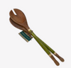 Coloured Capiz Shell and Wood Salad Servers - Issara Fairtrade
