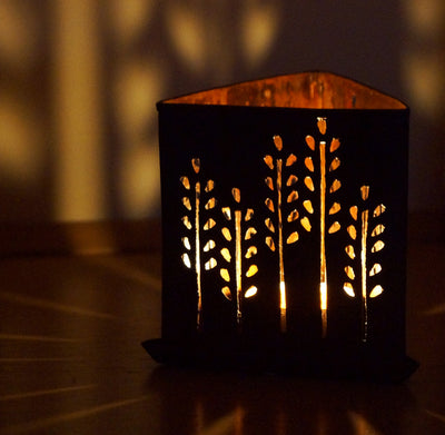 Copper Triangle Tea Light - Issara Fairtrade
