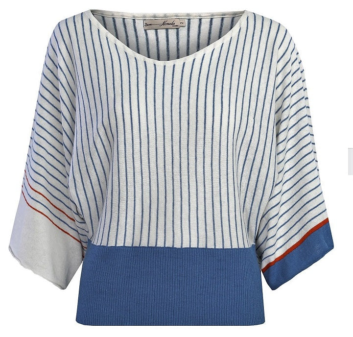 FAA Striped Organic Linen Top - Issara Fairtrade