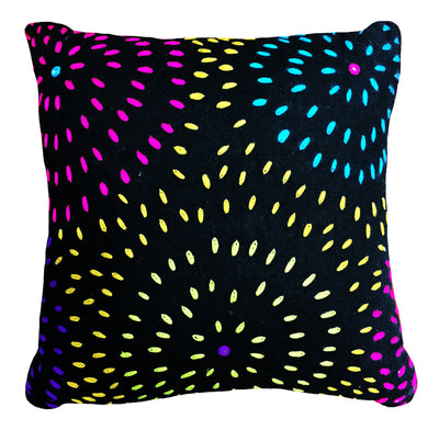 Black Firework Eco Cushion - Issara Fairtrade