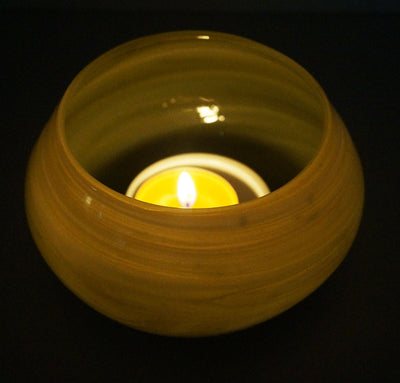 Handmade Recycled Tea Light Vase - Issara Fairtrade