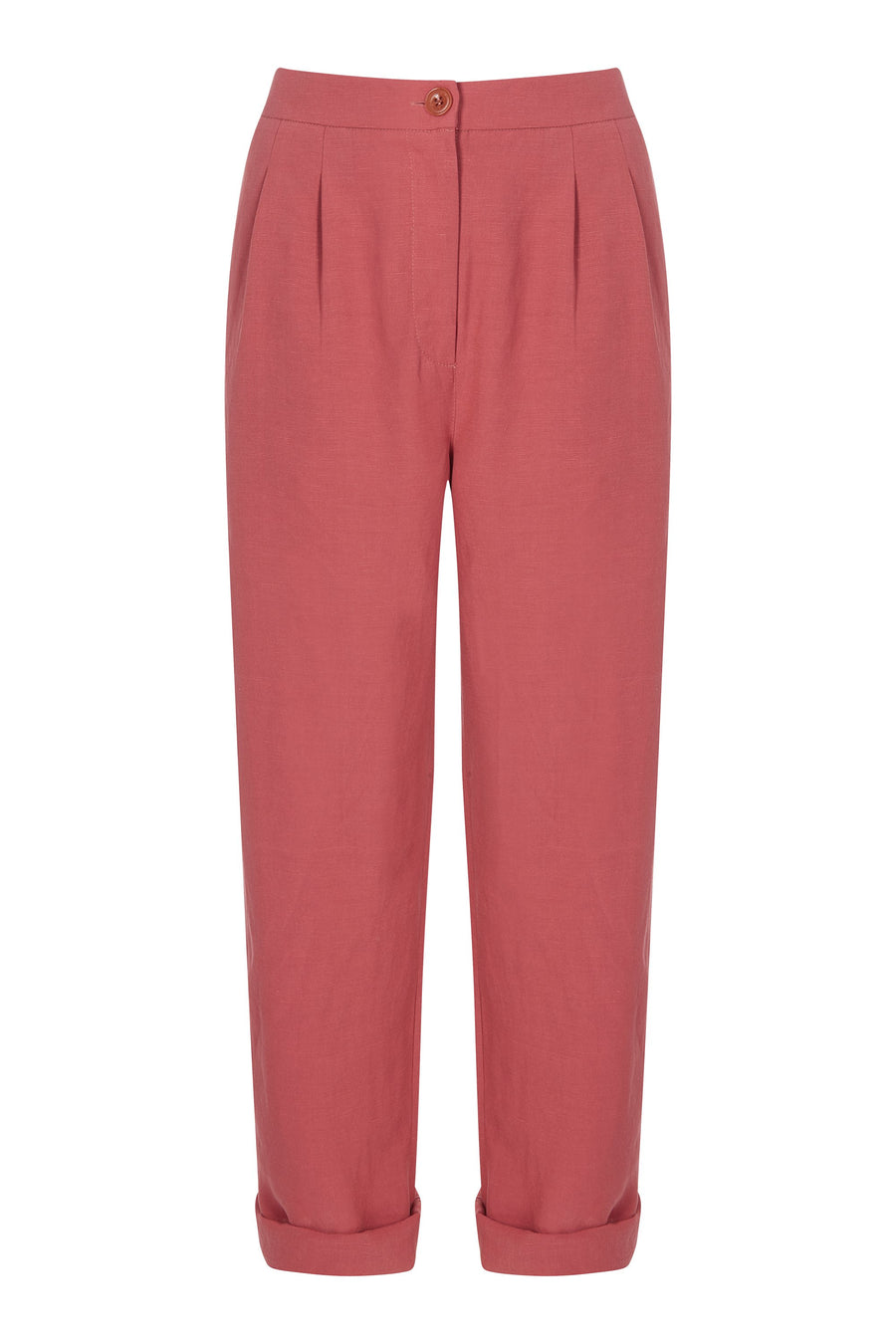 Juna Tencel Trousers Rust - Issara Fairtrade