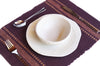 Place Mat Set of 4 - Maroon - Issara Fairtrade