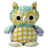 Scrappy Owl Aqua - Issara Fairtrade